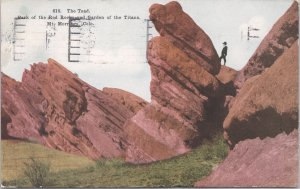 Mt. Morrison, Colo.-The Toad, Park of the Red Rocks, Garden of the Titans-1915