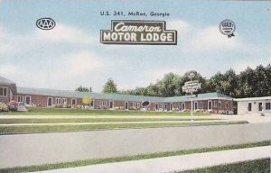 Georgia McRae Cameron Motor Lodge