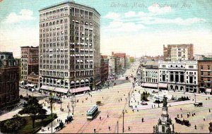 Michigan Detroit Trolleys On Woodward Avenue
