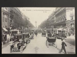 PARIS Le Boulevard des Capucines c1908 by G.M. 98