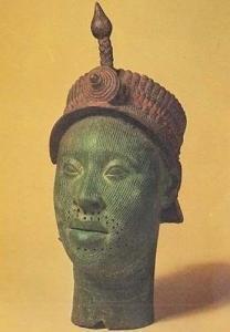 Ife Bronze Head Yorubaland Nigerian Antique Primitive Art London Museum Postcard