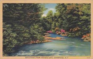 New York Greetings From Hedges Lake Cambridge 1944