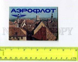 263855 USSR ESTONIA ADVERTISING AEROFLOT TALINN Pocket CALENDAR 1990 year