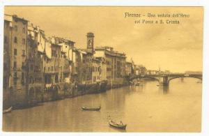 Firenze, Italy, 00-10s Una veduta dell'Arno col Ponte a S. Trinita
