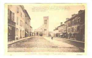 Ganat, Allier   , France, PU-1916 ; Place hennequin et l'Eglise Sainte-Croix