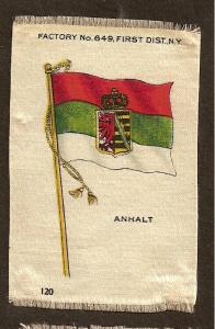 TURN OF THE CENTURY CIGARETTE SILK -GERMANY  - ANHALT FLAG