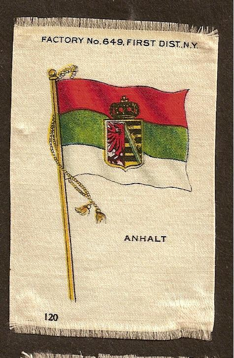 TURN OF THE CENTURY CIGARETTE SILK -GERMANY  - ANHALT FLAG