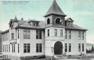 Clarkston Washington~Public School~c1910 Clarkston Drug Company Postcard