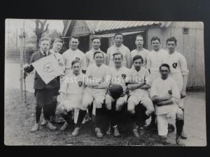 Kent BOYS FOOTBALL TEAM - 'K' College / School Badge c1938 Old RP Postcard