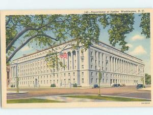 Unused Linen DEPARTMENT OF JUSTICE Washington DC hn9309