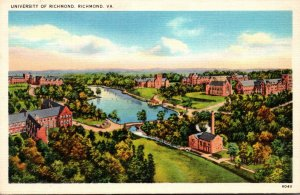 Virginia Richmond Aerial View University Of Richmond