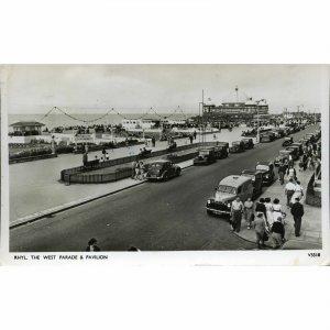 Photochrom Postcard 'Rhyl, The West Parade & Pavilion'