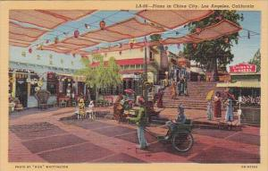 California Los Angeles Plaza In China City Curteich
