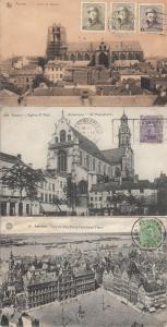 Lot 3 postcards Antwerp 1920 Belgium TCV royalty stamps