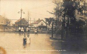 Massena NY Play Ground and Swimming Pool Children Real Photo Postcard