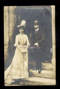 r3426 - The Prince & Princess of Wales in their Sunday best at Church - postcard