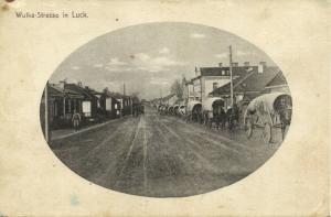 russia ukraine, LUZK LUCK LUTSK Луцьк, Wulka Street (1910s) Postcard