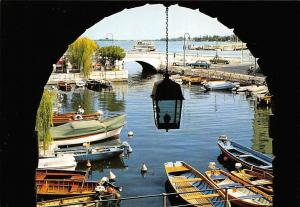 Italy Lago di Garda Desenzano Darsena Interna Harbour Boats Bateaux Bridge