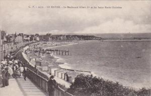 France Le Havre Le Boulevard Albert I et les Bains Marie Christine