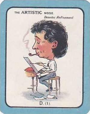 Carreras Vintage Large Carreras Cigarette Card Nose Game No D1 The Artistic N...