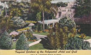 Florida Daytona Tropical Gardens Of The Ridgewood Hotel and Grill 1958
