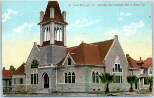 Santa Ana, CA Postcard German Evangelical Association Church NEWMAN c1910s