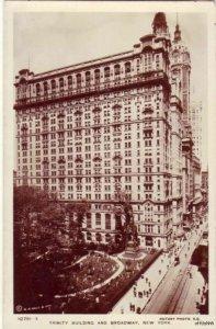 TRINITY BLDG & BROADWAY NEW YORK RPPC A REAL ROTARY PHOTO ON RAJAR BROMIDE CARD