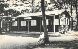 Hanson Massachusetts Camp Kiwanee Store Street View Antique Postcard K92242