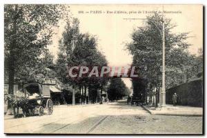 Paris (14) Street D & # 39Alesia taking the & # 39Avenue Postale Montsouris h...
