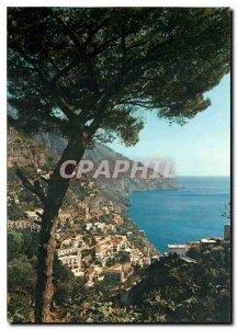 Modern Postcard Positano Panorama with pine