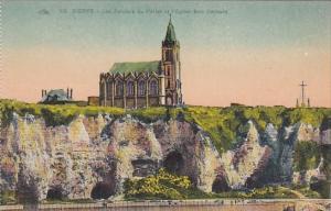 France Dieppe Les Falaises du Pollet et l'Eglise Bon Secours