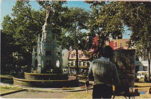 Monument of Faith, Palace of Weapons, Artist Painting a Canvas, QUEBEC CITY, ...