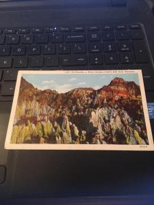 Vtg Postcard: The Needles, Hell's Half Acre, Wyoming