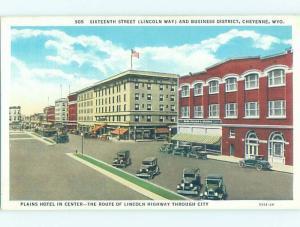 Unused Linen SHOPS ALONG THE STREET & PLAINS HOTEL Cheyenne Wyoming WY B1247
