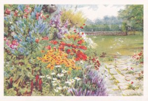 South Lawn & Flower Borders Easton Lodge Great Dunmow Postcard
