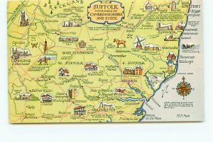 Buy Postcard Suffilk Essex Maps England