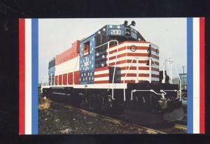 BOSTON & MAINE RAILROAD THE MINUTEMAN PATRIOTIC TRAIN LOCOMOTIVE POSTCARD