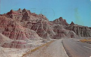 Scenic Highway Through Bad Lands National Monument Badlands SD