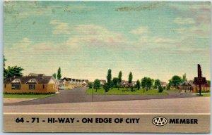 Fort Smith, Arkansas Postcard TERRY'S MOTOR COURT Highway 64 & 71 Roadside Linen