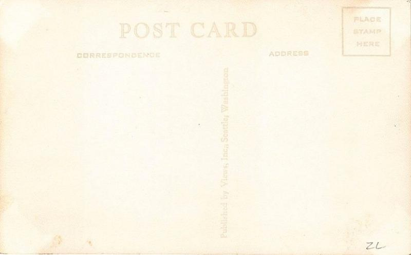 Roseburg OR Hotel Rose Gas Station Fronts Street View RPPC Postcard