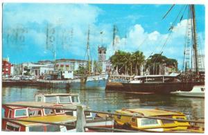 Careenage, Bridgetown, Barbados, West Indies, 1977 used Postcard