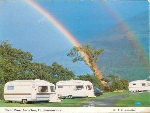 Postcard Scotland River Coe Arrochar Dunbartonshire camper vans rainbow aspects