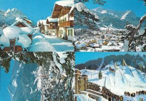 Garmisch Partenkirchen Olympic Games Skiing Slope 4x Postcard