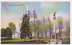 Beautiful Temple Grounds Salt Lake City Utah