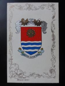Somerset: WESTON SUPER MARE - Heraldic Coat of Arms c1905 - Pub by Ja-Ja