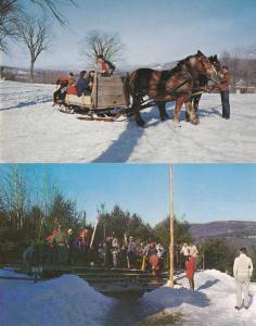 (2 cards) Eastover Winter Resort - Lenox MA, Massachusetts