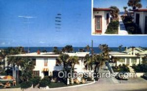 Surf Ocean Front Cottages, Daytona Beach, FL, USA Motel Hotel Postcard Post C...