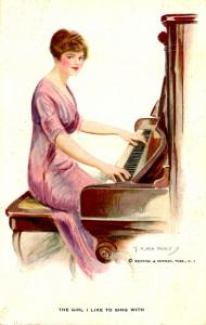 The Girl I'd Like To Sing With - Artist Signed: F. Earl Christy