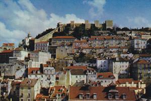 Castle Of Sao Jorge and Old Mourario Quarter Lisboa Portugal