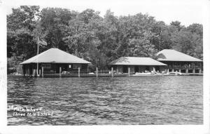 Three Mile Island New Hampshire Waterfront Real Photo Antique Postcard K22539